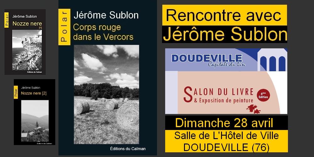 Jerome sublon salon du livre doudeville