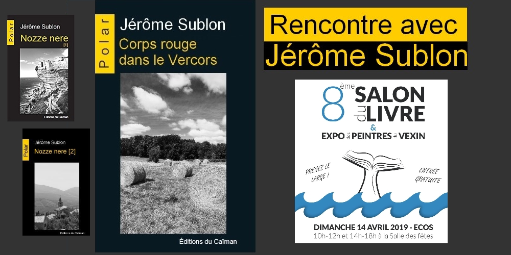 Jerome sublon salon du livre ecos