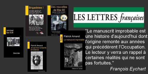 Manuscrit improbable lettres francaises 2