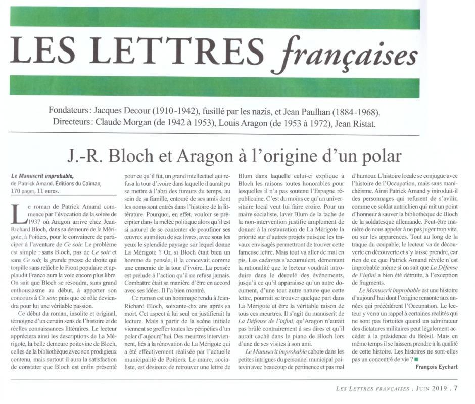 Manuscrit improbable lettres francaises